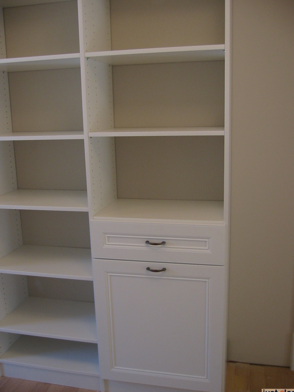 Built-in drawers in clothes closet system - Just Closets