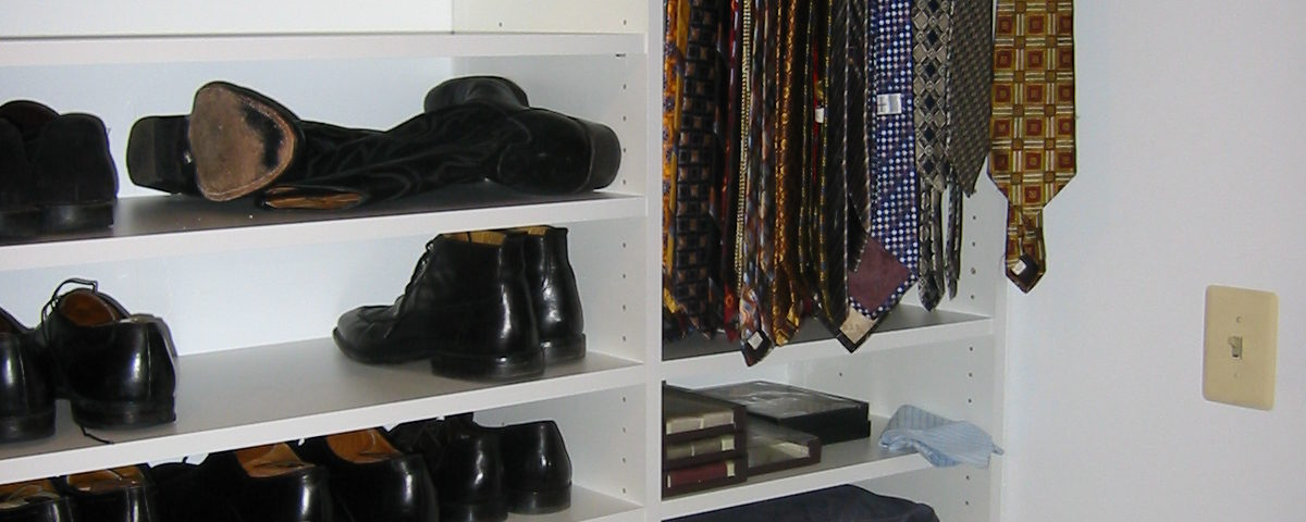 Shoes And Tie Rack. Just Closets U003e ...
