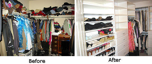 Before And After Photo Of Closet