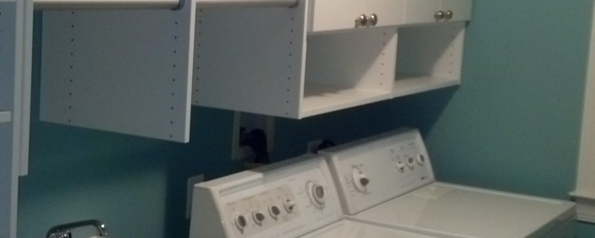 Laundry Room Storage Custom Installed By Just Closets Of Northern Virginia.