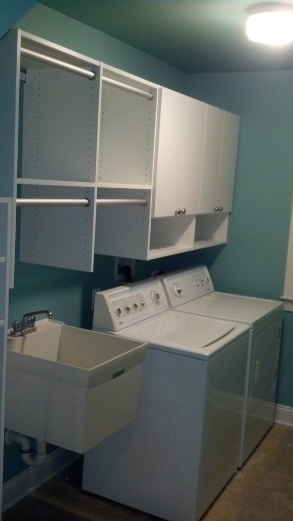 Elegant Laundry Room Storage Custom Installed By Just Closets Of Northern Virginia.