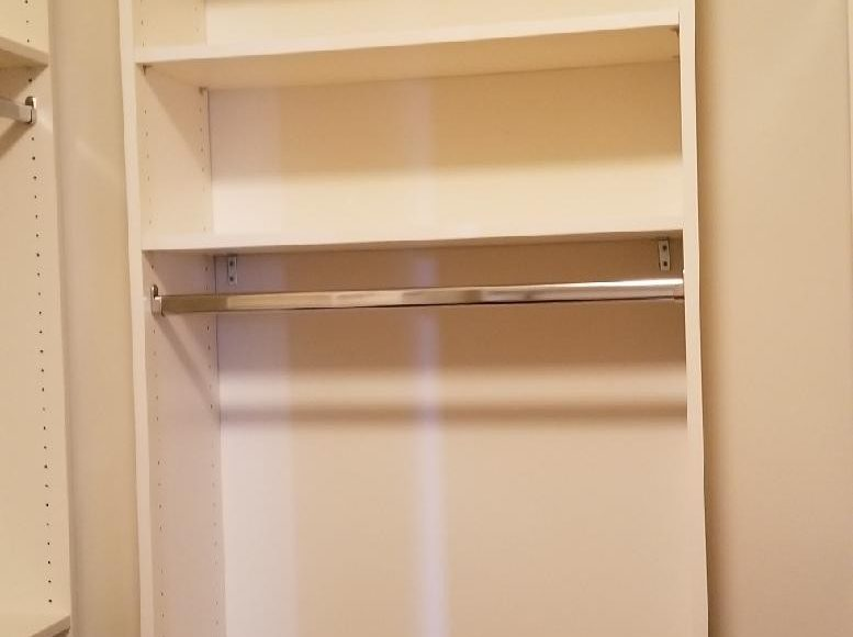 Lower Rod With Shelves Above In Closet System