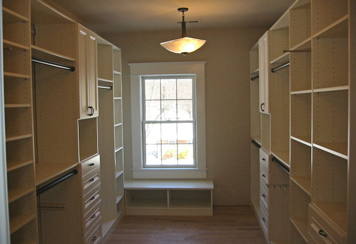 Large closet with built-ins, custom built for client