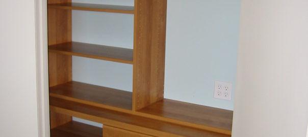 Closet Drawers and Shelves