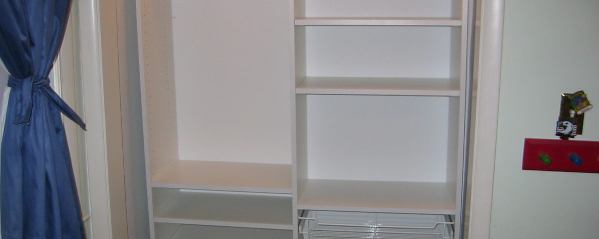 Children's closet with accessories