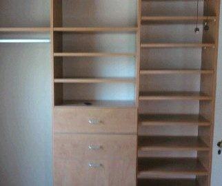 We build custom closet systems