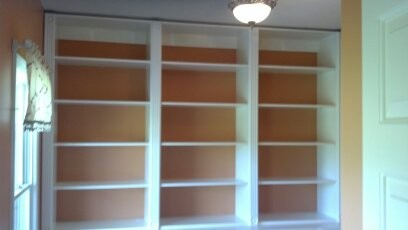 Open shelving for closets