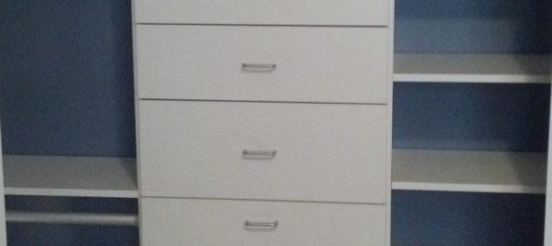 Custom closet storage system