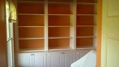 Shelves and Cabinets Below