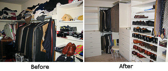 Before and After Closet Photos