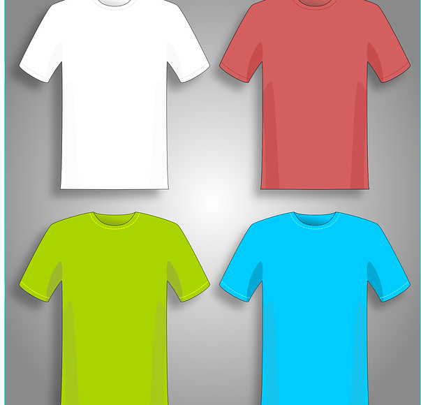 Clothes closet shirts