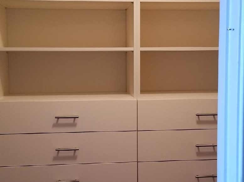 Closet Shelves with Drawers